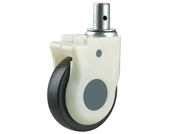Medical Caster with TPU Wheel Swivel Round Stem